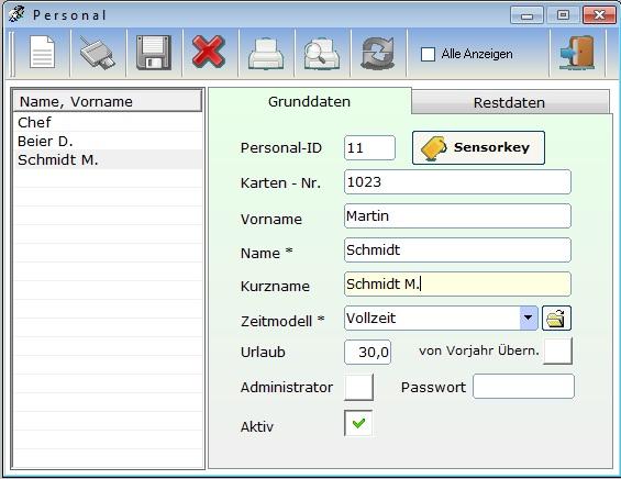 Arbeitszeiterfassung, Az-Controll, Zeiterfassung, Fingertouch,Personal-Zeiterfassung